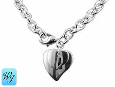 Real Genuine Ladies Girls Beautiful HEART Necklace 925 Sterling Silver S/F