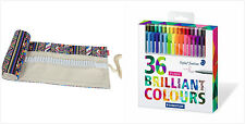 Assorted 36 Colors 0.3mm Staedtler Color Triplus Fineliner Pens Canvas Wrap Set