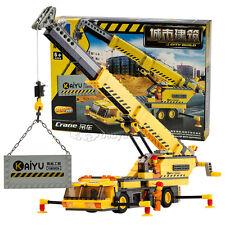 Enlighten Plastic Building Blocks Crane Trucks Kids Children Block City