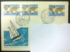 POLAND-STAMPS FDC Fi1777 SC1658 Mi1924 - Cruise of Teliga- 1969, used