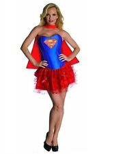 New Sexy Womans Corset Tutu Supergirl Halloween Costume Dress Size Large 10-14