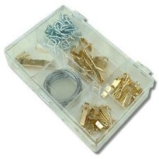 86Pc PICTURE HANGING KIT UP TO 50LBS Screw Eye/Wire/Nail Hanger/Photo Frame Set