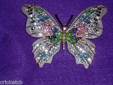 Exquisite JOAN RIVERS Crystal FANTASY  BUTTERFLY Brooch  NIB