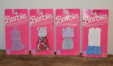 Lot 4 tenues habits vêtements BARBIE Genuine Vintage Neufs MATTEL 1989