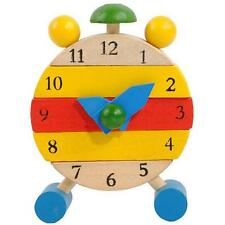 Kids Intelligence Toy Hand Made Wooden Clock Toy For Kid To Learn Time Clock Hot