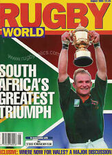 RUGBY WORLD MAGAZINE AUGUST 1995 SOUTH AFRICA NEW ZEALAND ENGLAND FRANCE