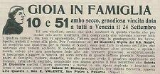 W6410 Ambo secco con Don E. Valente - Pubblicità 1927 - Advertising