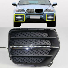 1Set  White LED Daytime Running Lights DRL Front  Fog Lamps for BMW X6 2008-2013