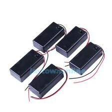 5PCS 9V Battery Holder Box Case with Wire Lead ON/OFF Switch Cover  #JT1