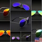 Retro Aviator Sunglasses Vintage Mirror Lens New Men Women Fashion Frame Glasses