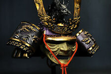 Japanese Samurai Kabuto Helmet -big dragon with a mask- Rare!