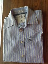 Abercrombie and Fitch  Sz M  Striped Muscle Dress  Buttom Down Shirt 100% cotton