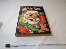 Santa's Busy Book coloring VINTAGE RARE puzzles dot to dot Winship Whitman make