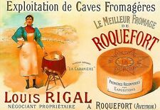 Art Poster Roquefort Cheese French   Print