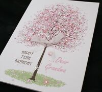 LARGE Handmade Personalised SPRING TREE Birthday Card16th 21st 20th 30th 40th..