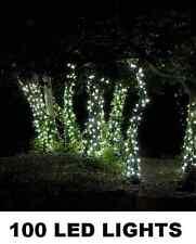Filo Di 100 Luci Led 10 Metri Effetto Luce Solare Colore Bianco Ideali Giardino