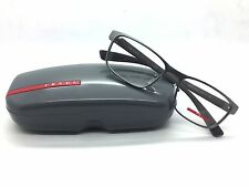 NEW PRADA EYEGLASSES PS 50G DG 1o1 GUNMETAL RUBBER 55mm RX AUTHENTIC 50GV