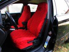 Front Seat Covers for Audi A2 , A3 , A4 , A6 , 80 , 90 RED with BLACK PIPING