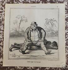 """Honoré Daumier. Lithographie originale. Série """"Actualités"""" n°19  19ème siècle"""