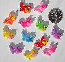 Butterfly Flowers Resin Flatbacks bows embellishments scrapbooking craft glue on