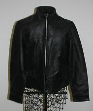 Old Navy Black Leather Jacket Women's XS Motorcycle Biker Cycle Ride Punk VTG