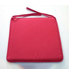 Removable Seat Pad Tie On Chair Cushion Cover Office Garden Patio Pillow Red
