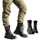 AU Size 5-11 New Black Combat Leather Lace Up Mens Military Ankle Boots Shoes