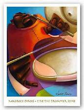 AFRICAN AMERICAN ART PRINT Give the Drummer Some Maurice Evans