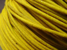 RETRO VINTAGE STYLE CLOTH COVERED SINGLE STRAND ELECTRIC GUITAR WIRE  - YELLOW