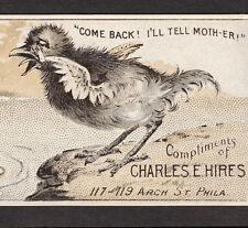 Charles E Hires Cough Cure 1800's Quack Duck Bottle Advertising Bookmark Ad Card