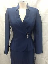 TAHARI BY ARTHUR LEVINE SKIRT SUIT SIZE 18/RETAIL$280/NAVY/FULLY LINED/