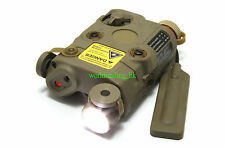 Airsoft Dummy PEQ 15 LED Flashlight + Red Laser + Wire Remote Control (TAN) US