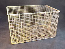 """WIRE BASKET STEEL 11.5"""" by 7.5"""" by 8"""" parts cleaning basket ¼ inch mesh SOLID!"""