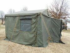 MILITARY SURPLUS TENT MODULAR COMMAND POST WITH FLOOR 11x11  USED  ARMY