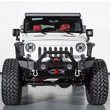 07-16 Jeep Wrangler JK Rock Crawler HD Front Bumper+Rivet+OE Fog Light Mount
