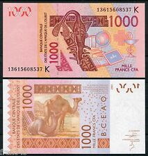 WEST AFRICAN STATES SENEGAL K 1000 francs 2003 2013  Pick new    SC /  UNC