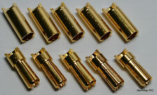 5 Male / 5 Female Polymax 5.5MM Gold Plated Bullet Connector Plugs - 100+ Amps