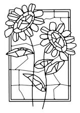 Woodware Clear Singles Rubber Stamp - Mosaic Flower Window FRS635