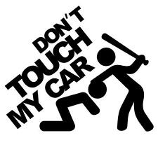 Car Styling Sticker DONT TOUCH MY CAR Reflective PVC Sticker For AUDI VW Benz