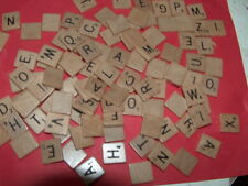 100 Finished smooth scrabble letters complete set original Hasbro Scrabble 1/23
