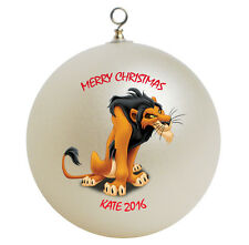Personalized Lion King Scar Christmas Ornament Gift Add Name