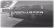 1 - brand new SUPERCHARGED chrome badge emblems dodge charger monte carlo