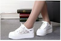 WOMENS LADIES SLIP ON FLAT PLIMSOLLS SNEAKERS PUMPS SKATER LACE UP CANVAS SHOES