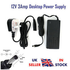 12V 2.5Amp Desktop Power Supply PSU Adapter Charger UK Plug For 12V Strip Lights
