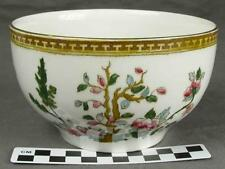 Antique Sampson Hancock & Sons Indian Tree Gold Cranberry Serving Bowl (HH)