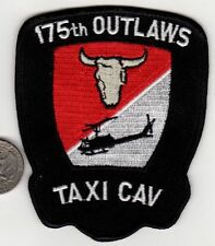 US Army 175th OUTLAWS TAXI CAV Squadron Patch Helicopter Aviation Cavalry Texas