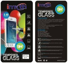 100% Genuine Tempered Glass Film Screen Protector Cover for HTC One M7 & Package