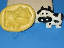 Baby Cow Flexible Push Mold 2D Food Safe Silicone A86 Cake Topper Chocolate