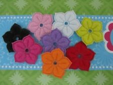 80 Spring Color Felt Embossed Flower with Hole Applique/Scrapbooking/Craft L47