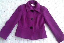 Cc Country Casuals Petite Purple Short Smart Jacket Size 8 *Lovely* Unworn* Wool